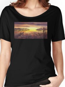 Peaceful Sunset At The Lake Women's Relaxed Fit T-Shirt