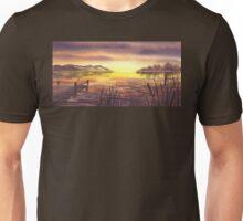 Peaceful Sunset At The Lake Unisex T-Shirt
