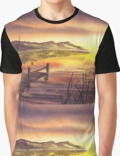 Peaceful Sunset At The Lake Graphic T-Shirt