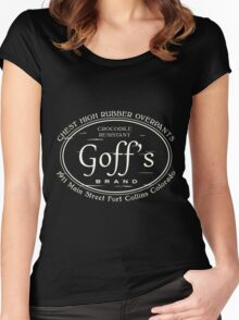 Goff's Chest High Rubber Overpants Women's Fitted Scoop T-Shirt