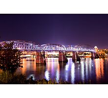 Purple People Bridge, Cincinnati, Ohio Photographic Print
