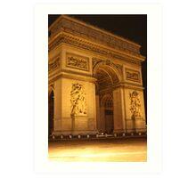 L'Arc de Triomphe at Night Art Print