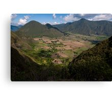 Pululahua Crater in Ecuador 2 Canvas Print