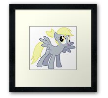 Derpy With A Ponytail Framed Print