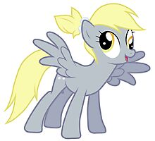 Derpy With A Ponytail Photographic Print