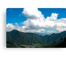 Pululahua Crater in Ecuador 3 Canvas Print