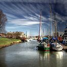 Moored at Gravesend  by larry flewers