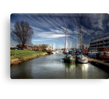 Moored at Gravesend  Canvas Print