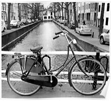 The Hague - A Bicycle & The Canal Poster