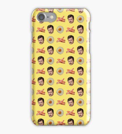 Eggs, Bacon, Ron Swanson iPhone Case/Skin