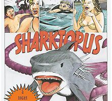Sharktopus lobby poster by D'JINN Bidwell