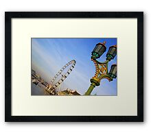 London eye lamp Framed Print