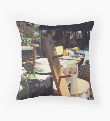 Flea Market Throw Pillow