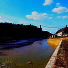 Flowing Avon river under Clifton Bridge by Arvind Singh