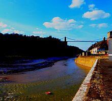 Flowing Avon river under Clifton Bridge by Arvind Singh