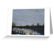 Sunset over the Rhine Greeting Card