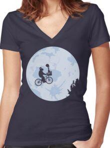 Go home roger! Women's Fitted V-Neck T-Shirt