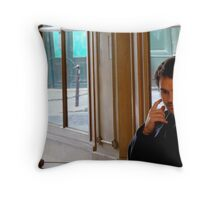 """I Wonder If She'll Even Show Up..."" Throw Pillow"