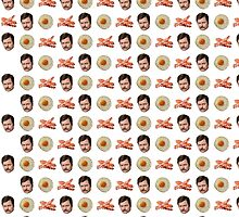 Eggs, Bacon, Ron Swanson by donweirocks