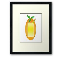Fruit Shapes Framed Print