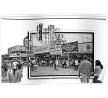 The Boardwalk at Seaside Heights, NJ Poster