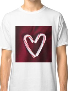 candy cane hearts 2 Classic T-Shirt