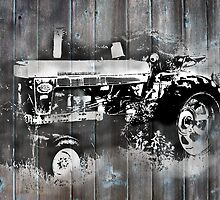 Farmall Image on Barn Wood by vvfineartphotog