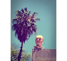 Mexican Head Sculpture Photographic Print