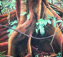 rainforest floor, soft pastel by rateotu
