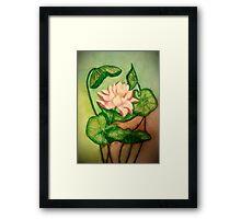 Lotus Painting Framed Print