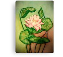 Lotus Painting Canvas Print