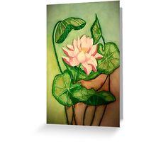 Lotus Painting Greeting Card
