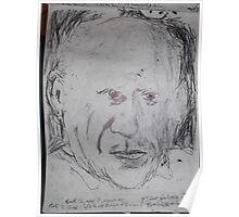 Picasso/copied photo -(110413)- A5 sketchbook/black biro pen  Poster