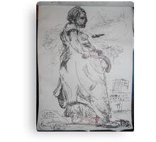 Copied sculpture/Buckingham Palace -(110413)- black biro pen/A5 sketchbook Canvas Print