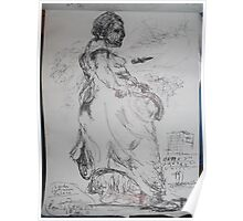 Copied sculpture/Buckingham Palace -(110413)- black biro pen/A5 sketchbook Poster