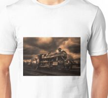 Steam Train Engine black and white toned Unisex T-Shirt