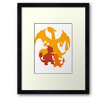 Charmander Evolution  Framed Print