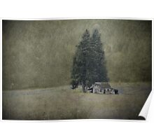 Cabin Under the Tree Poster