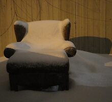 A Nice Chair To Sit In Outside At The Dumpster by Guy Ricketts