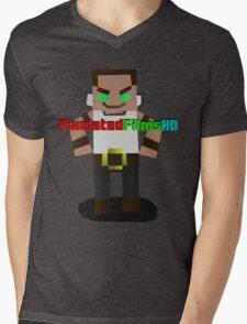 Mr. Pixel Mens V-Neck T-Shirt