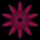 Flame Deep Pink Flower Kaleidoscope 003 2013 by fantasytripp