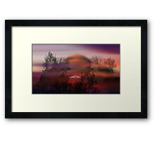 ©DigiArt UFO Land. Framed Print
