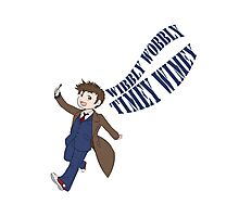 Timey Wimey 10th Doctor Photographic Print