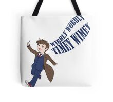 Timey Wimey 10th Doctor Tote Bag