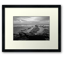 Summoning The Waves -Snapper Rocks Framed Print