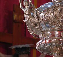 A Silver Lamp infront of Jesus by fajjenzu