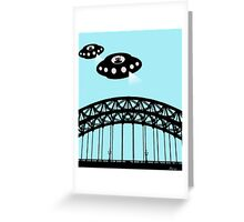 Aliens invade Newcastle Greeting Card