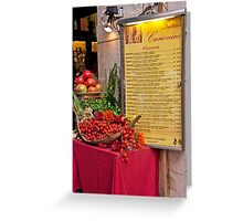 Fresh Ingredients Greeting Card