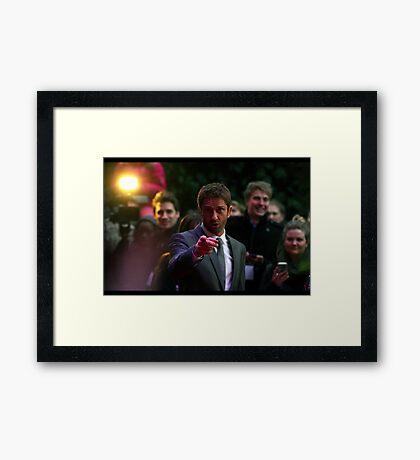 Gerard Butler wants YOU... Framed Print