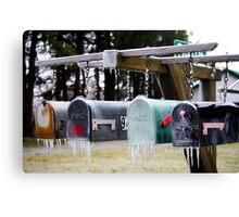 Frozen Mail... Canvas Print